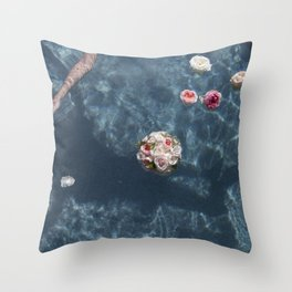 Bouquet and Bride Floating Throw Pillow