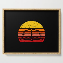 Classic Retro Vintage Book Lover Gift Serving Tray