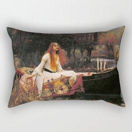 The Lady of Shallot - John William Waterhouse Rectangular Pillow