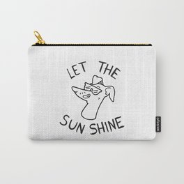 Let the sun shine - Italian greyhound - Black & White Carry-All Pouch
