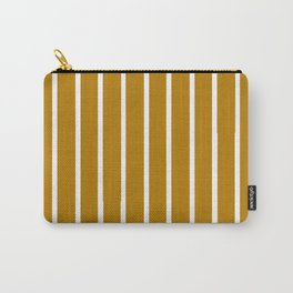 Gold and White Stripes Carry-All Pouch