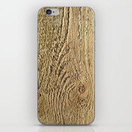 Unrefined Wood Grain iPhone Skin