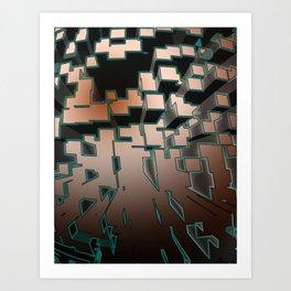 Neon Extrusion Art Print
