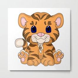 Tiny Tiger Metal Print