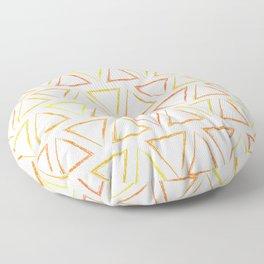 Triangular Peaks Pattern - Sunshine #913 Floor Pillow