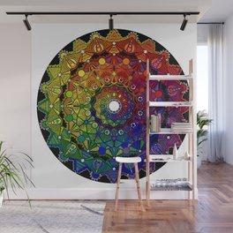 Mandala 46 - Psychedelic Mandala Rainbow series Wall Mural
