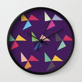 Colorful geometric pattern IV Wall Clock