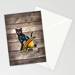 Gato en un Sombrero - Day of the Dead Sugar Skull Cat - Dia de los Muertos Kitty Stationery Cards