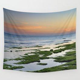 Green coast. Mediterranean sea. Wall Tapestry
