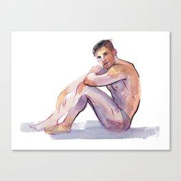MAX, Semi-Nude Male by Frank-Joseph Canvas Print