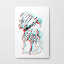 Glitch gag Metal Print
