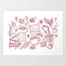 Tea things Art Print