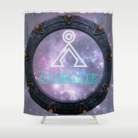 stargate Shower Curtains featuring Milky way gate by Samy