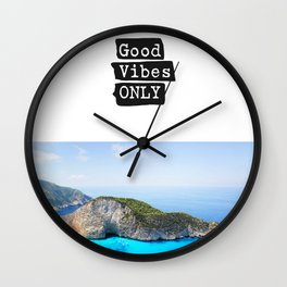 Good vibes only island vers Wall Clock