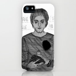 My heart is broke, but I have some glue iPhone Case