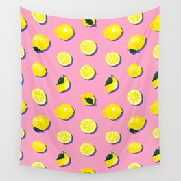 Pink Lemon ~ 80's Pattern Wall Tapestry