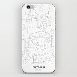 Dortmund, Germany Minimalist Map iPhone Skin