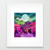 spirited away Framed Art Prints featuring Spirited Away by Jen Bartel