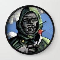 doom Wall Clocks featuring Doom by David Comito