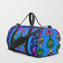 Colorful Ethnic Indian Valentines Duffle Bag