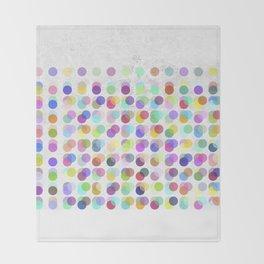 Pastel Dots Throw Blanket