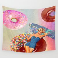 android Wall Tapestries featuring Foods Before Dudes by Jenna Davis Designs