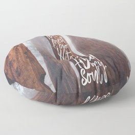John Muir-And Into The Forest I Go To Lose My Mind And Find My Soul Floor Pillow