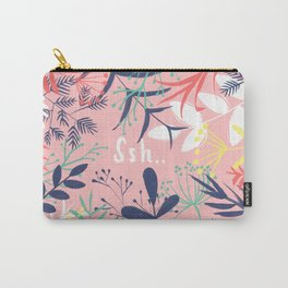 Quiet in the Jungle in Pink Carry-All Pouch