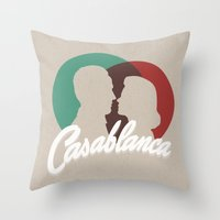 casablanca Throw Pillows featuring Casablanca by SG Posters