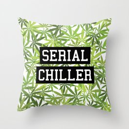 Serial Chiller Throw Pillow