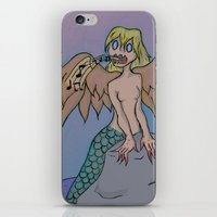 siren iPhone & iPod Skins featuring Siren by Art Guy Charlie