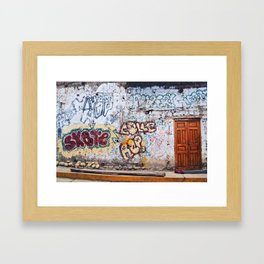 Old City Graffiti Framed Art Print