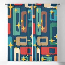 Retro Mid Century Modern Abstract Pattern 221 Blackout Curtain
