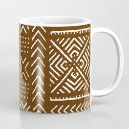 Line Mud Cloth // Brown Coffee Mug