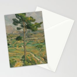 Mont Sainte-Victoire and the Viaduct of the Arc River Valley Stationery Cards