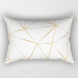 gold polygon on white Rectangular Pillow