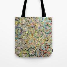 Rainbow Circles Collage Tote Bag
