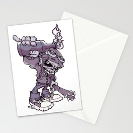 Anarchy Skeleton - Amethyst Smoke Stationery Cards