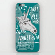 The Existentialist Unicorn iPhone & iPod Skin