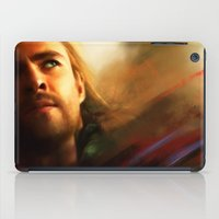 thor iPad Cases featuring Thor by Kate Dunn