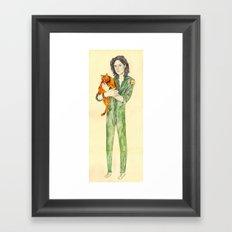Ellen Ripley with Jones | Alien Framed Art Print