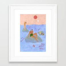 Lonely gals (wearing Frankie Shop bathing suits) Framed Art Print