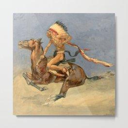 "Frederic Remington Western Art ""Pony War Dance"" Metal Print"