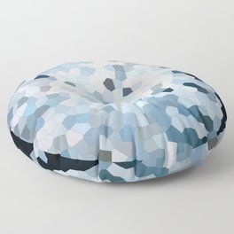 Darkness Meets Light Geometric Floor Pillow