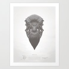 California Condor Skull Art Print