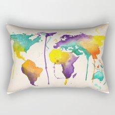 World Splash Rectangular Pillow