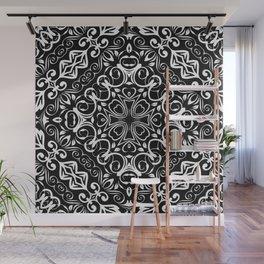 Kaleidoscope White Lace Print Wall Mural