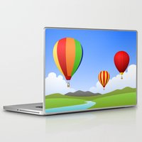 hot air balloons Laptop & iPad Skins featuring Hot Air Balloons by Henry Meadowlark