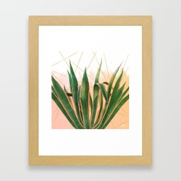 Cactus with geometric Framed Art Print