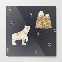 Polar Bear in the Arctic Metal Print